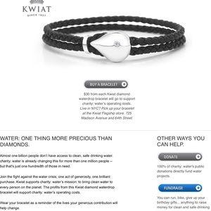 """Kwiat Jewelry - Kwiat Charity Water Bracelet, 7 1/4"""""""